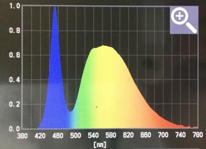 一般的なLED照明の波長の画像
