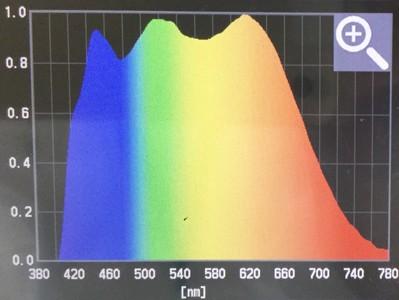 弊社が取り扱うブルーライト抑制照明の波長の画像
