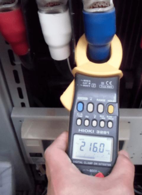 電力・動力の計測中の画像