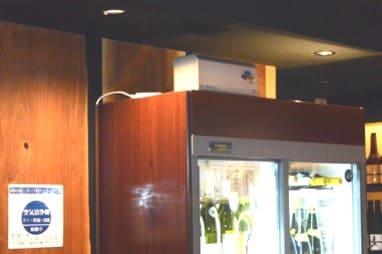 飲食店ままやでオゾン発生装置「エアフレッシュEX」を使っている画像